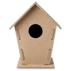 Drewniana budka dla ptaków